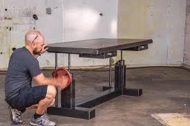 Sit And Stand Desk by Crank Sit Stand Desk U2013 Vintage Industrial Furniture
