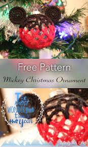 free pattern disney series christmas ornament crochet mickey