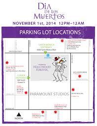 Dia Map Parking Map 2014 Día De Los Muertos