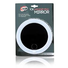 lighted makeup mirror 10x magnifying with suction cups making it a