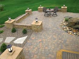 Patio Pavers Cost by Patio Paver Ideas With Plantings Home And Garden Decor