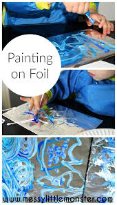 painting on foil process art color mixing and art ideas