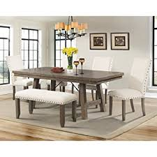 Side Chairs For Dining Room by Amazon Com Dex Dining Table 4 Side Chairs U0026 Bench Table