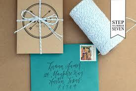 tri fold invitations diy tutorial modern banner tri fold save the date