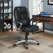 Leather Office Chair Serta Puresoft Faux Leather With Mesh Executive Office Chair