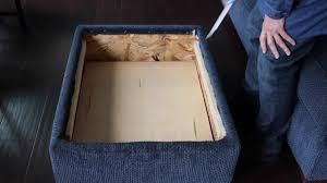 how to change a regular ottoman to a storage ottoman youtube