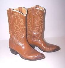 s boots size 9 1 2 s nocona brown leather cowboy boots size 9 1 2 d