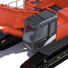 excavator hitachi zaxis zx870 3d model cgtrader