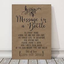 message in a bottle wedding personalised a4 wedding message in a bottle guest book sign buy 2
