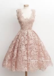 light pink knee length dress elegant light pink flower lace knee length short prom dress party
