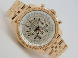 breitling bentley on wrist breitling bentley b06 rose red gold automatic chronograph watch