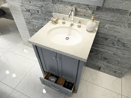 ace 25 inch single sink bathroom vanity set in grey finish