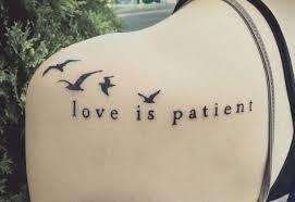 love is patient tattoo dominantni info