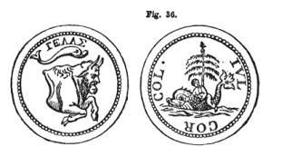 the two babylons hislop figure 36 symbols of nimrod and baal berith