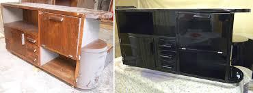 Schreibtisch Schwarz Lack Lackierung Restaurierung De Restaurierungen