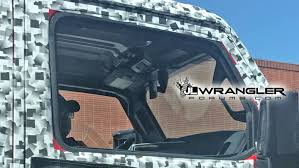 jeep truck 2018 spy photos 2018 jeep wrangler may offer a power retractable hardtop the drive