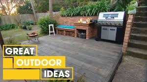 Outdoor Ideas Diy Bbq Area Makeover Outdoor Great Home Ideas Youtube