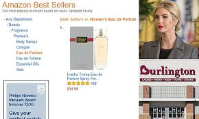 ivanka trump cologne ivanka perfume claims top two spots on amazon in sales daily mail