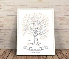 wedding tree guest book wedding tree guest book finger print tree with swing wedding