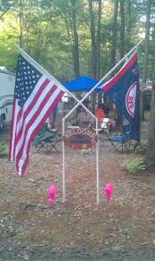 Flagpole Christmas Tree Kit White by How To Make A Pvc Flagpole For Your Campsite Home Sweet