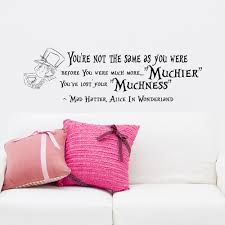 wall decals quotes alice in wonderland mad hatter muchier zoom
