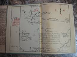 Book Map Hobbit Ca Rare Books For Sale