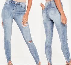 light blue skinny jeans womens light blue skinny jeans damaged jeans women ripped jeans women fray hem