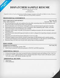 Paramedic Resume Sample by Dispatcher Resume Sample Http Resumesdesign Com Dispatcher
