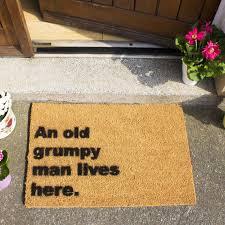 an old grumpy man lives here doormat ckb ltd coir doormats