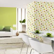 light gray aesthetic kitchen wallpaper pastel green chairs