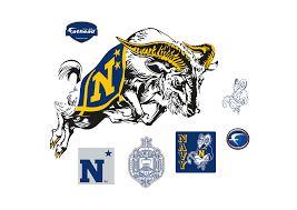 u naval academy logo wall decal shop fathead for navy