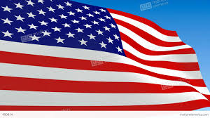 Waving Flag Artist Seamless Loop Waving Usa Flag Alpha Channel Is Included Stock