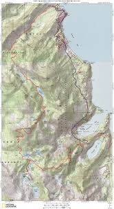 Desolation Sound Map Bayview Trailhead To Meeks Bay Trailhead Via Upper Velma Lake