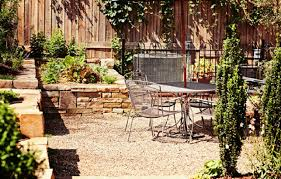 Pea Gravel Patio Pea Gravel Patio Landscaping And Raised Flower Beds