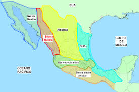 map central mexico regions of mexico map all world maps