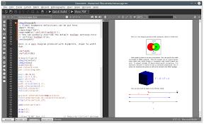 texmaker free cross platform latex editor