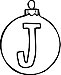 ornaments coloring pages ornament j alphabet coloring