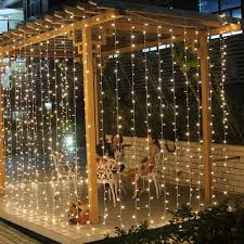 Curtain Fairy Lights by Fuloon 2014 New Update Can Be Used Outdoor 220v 8 Mode 10m X 3m