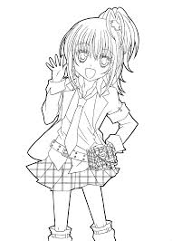 hotaru from shugo chara anime coloring pages for kids printable