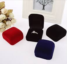 box cincin jewelry boxes organizers new design charming square velvet ring