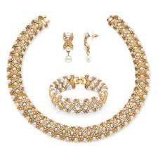 gold pearl necklace set images Pearl jewelry sets for less jpg