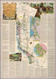 California Missions Map A Map Of The Missions Presidios Pueblos And Some Of The More