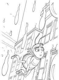 barry flying rain bee movie coloring pages bulk color