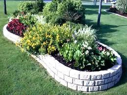 Raised Rock Garden Beds River Rock Garden Bed Rock Flower Beds Garden Design With Raised