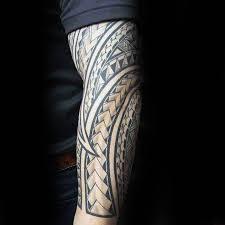 polynesian forearm sleeve pattern mens tattoos tatuajes para
