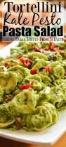 tortellini kale pesto pasta salad bakes simply from scratch