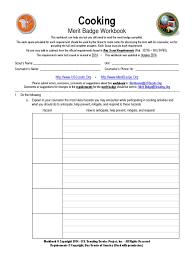 Cooking Merit Badge Worksheet Download Cooking Docshare Tips