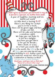 dr seuss birthday invitations dr seuss horton birthday invite wording for a preemie or baby