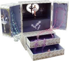 Childrens Music Boxes Swan Lake Musical Jewellery Cabinet Swan Lake Ballerina Jewellery