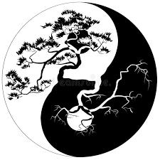 yin yang bonsai stock vector illustration of bonsai 51064025